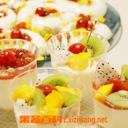 果蔬百科木瓜香草混合布丁